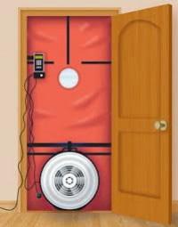 test de blowwer door eficiencia energetica en edificios viviendas oficinas naves industriales