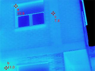 fachada edificio imagen termografica deteccion de puentes termicos acusticos