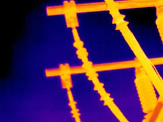 instalacion electrica de alata tension imagen termografica