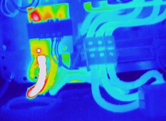imagen termografica deteccion fallos en instalacion electrica